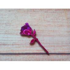 Pink Foiled MDF Rose 50mm